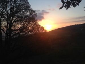 tramonto in maremma