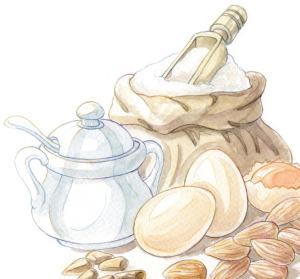 zucchero uova farina